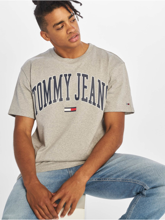 Tommy Jeans T-Shirt Collegiate Logo grau