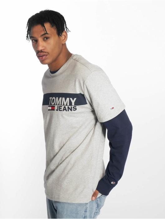 129a0df7ee Tommy Jeans Herren T-Shirt Essential Box Logo in grau 641747
