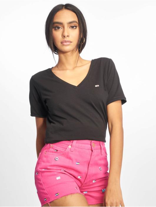 Tommy T shirt Stretch Femme 642212 Jeans Noir CxhQrsdtB