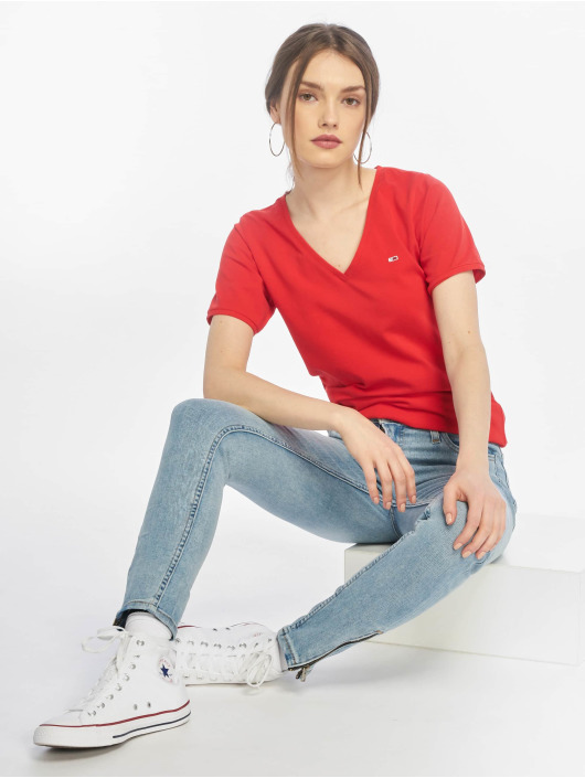 Tommy Jeans T-Shirt Stretch red