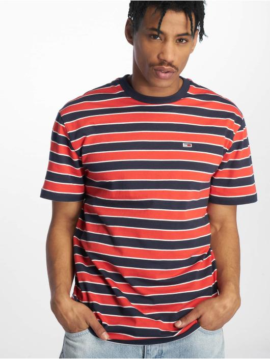 0563b82158 Tommy Jeans Herren T-Shirt Bold Stripe in rot 641687