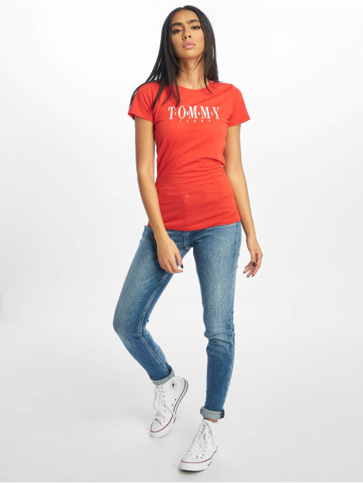 Tommy Jeans T-Shirt Casual rot