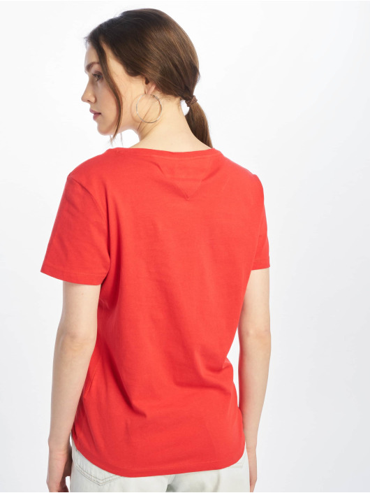 Tommy Jeans T-Shirt Soft Jersey rouge