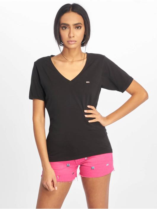 Tommy Jeans T-Shirt Stretch schwarz