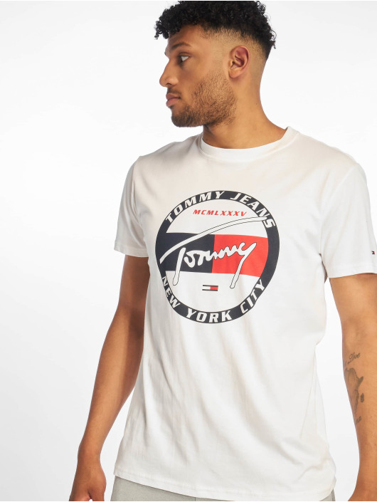 Tommy Jeans T-Shirt Circle Graphic weiß