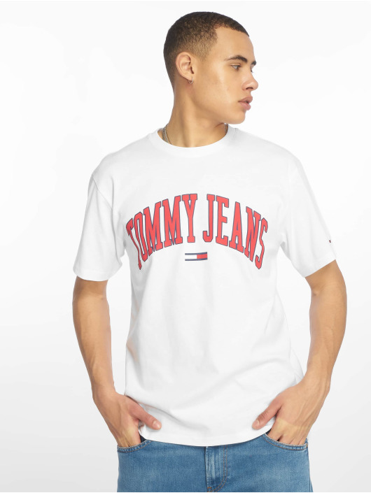 Tommy Jeans T-Shirty Collegiate Logo bialy