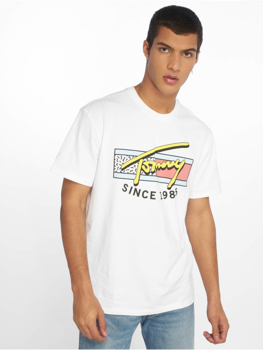 Tommy Jeans T-Shirty Neon Script bialy