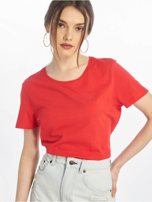 Tommy Jeans T-Shirty Soft Jersey czerwony