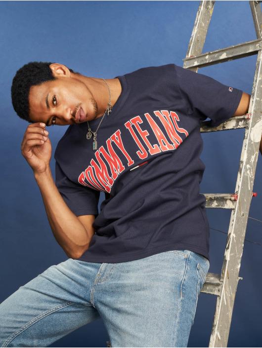 Tommy Jeans T-Shirty Collegiate Logo niebieski