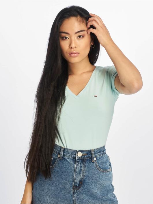 Tommy Jeans T-Shirty Stretch turkusowy