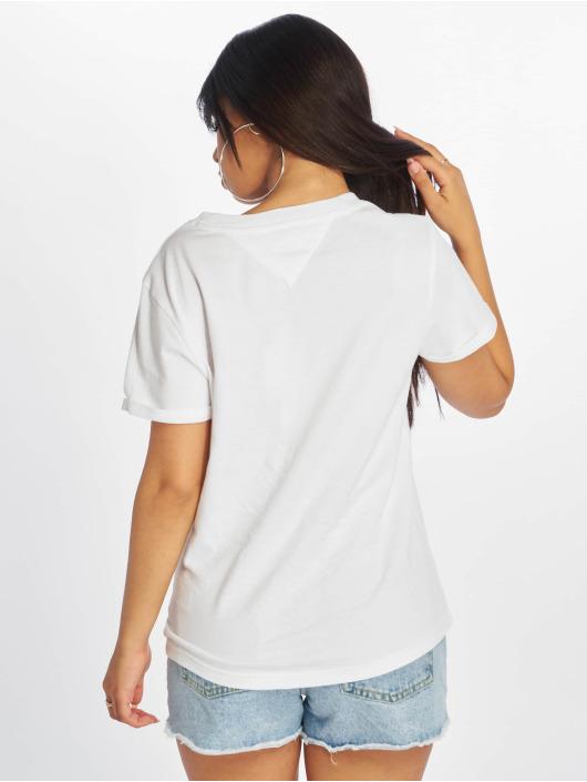 Tommy Jeans T-skjorter Relaxed Roll Up hvit