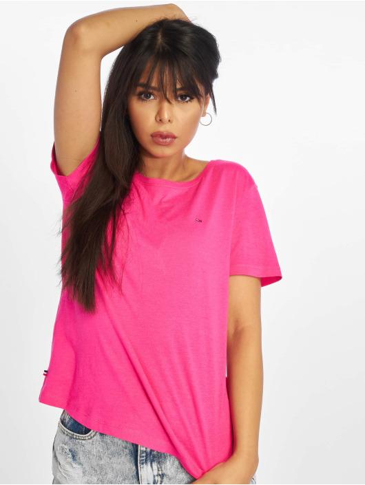 Tommy Jeans T-skjorter Soft Jersey lyserosa