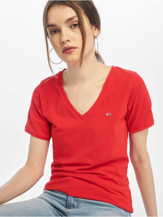 Tommy Jeans T-skjorter Stretch red