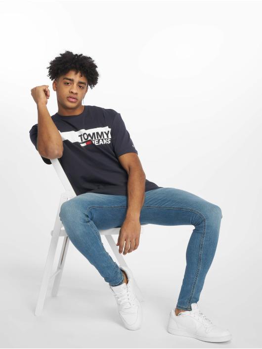 Tommy Jeans Tričká Essential Box Logo modrá