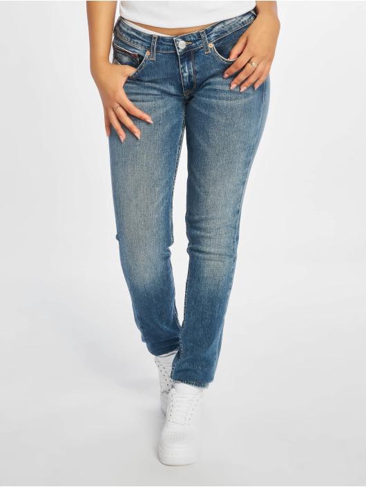 Tommy Jeans Tynne bukser Sophie Low Rise blå