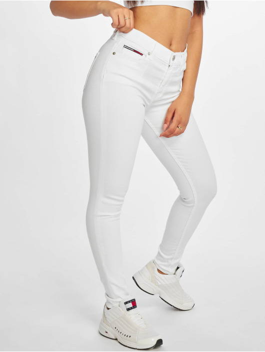 Tommy Jeans Tynne bukser Nora 7/8 Mid Rise hvit