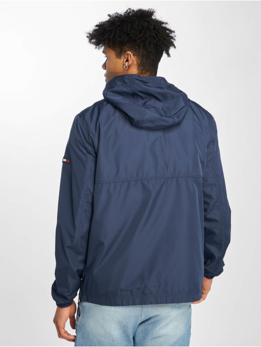 Tommy Jeans Übergangsjacke Nylon Shell Solid Popover blau