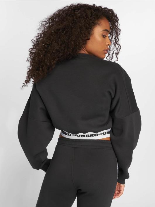 Umbro Pullover Crop Batwing schwarz
