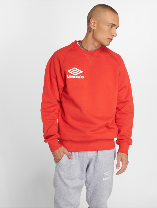 Umbro Swetry Classico Crew czerwony