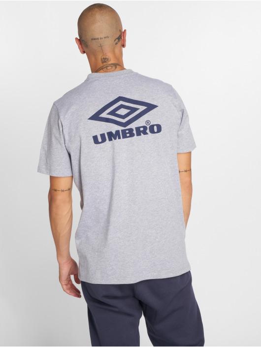 Umbro t-shirt Classico Crew Logo grijs