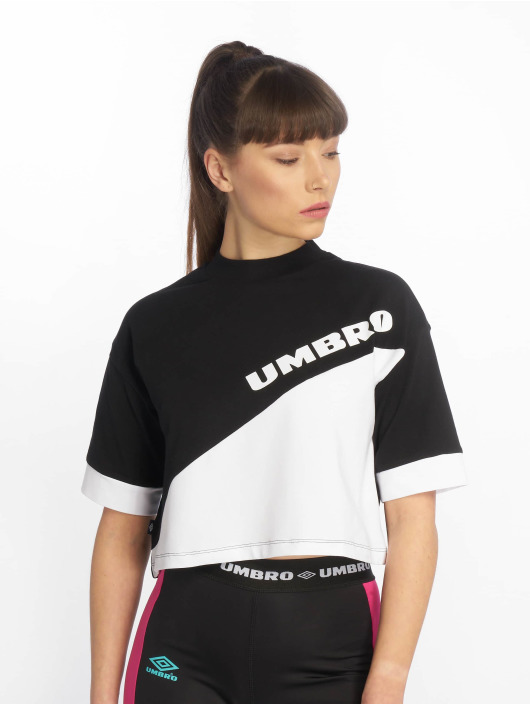 Umbro T-Shirty Temp Crop czarny
