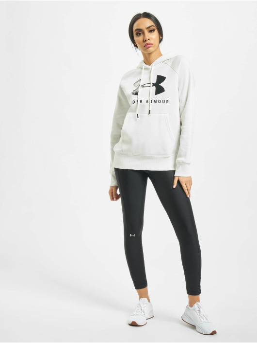 Under Armour Bluzy z kapturem Rival Fleece Sportstyle Graphic bialy