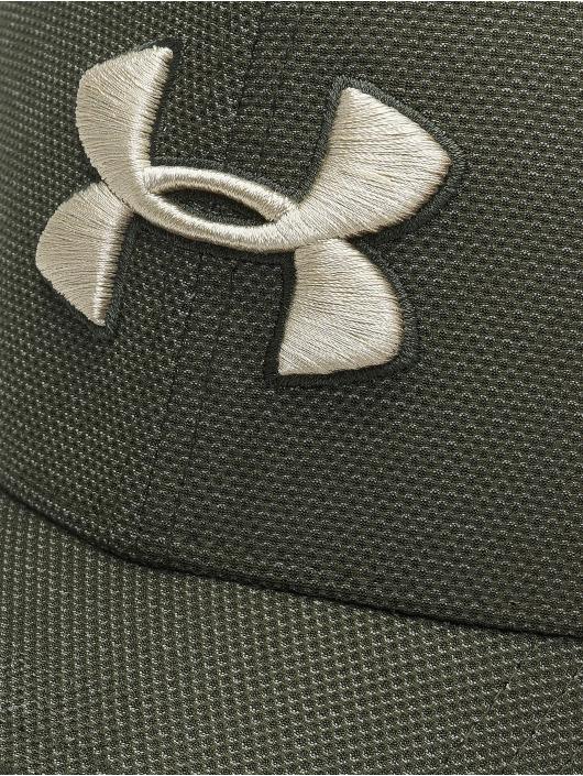 Under Armour Casquette Flex Fitted Heathered Blitzing 3.0 vert