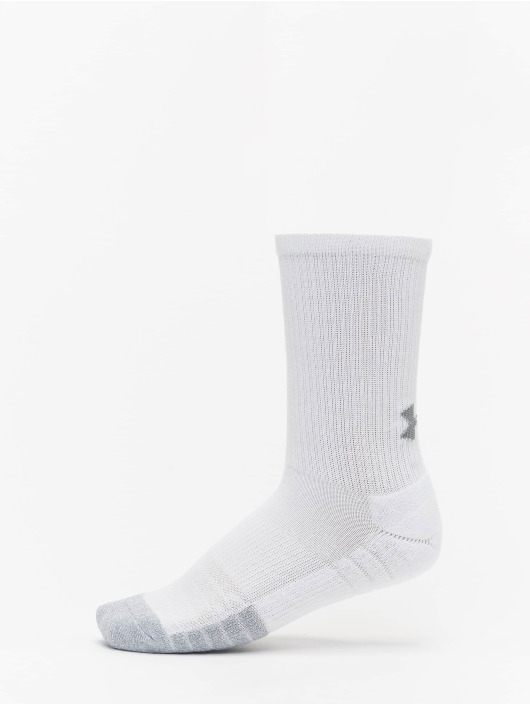 Under Armour Chaussettes Heatgear Crew blanc