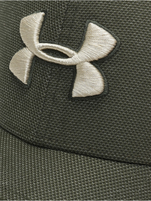 Under Armour Flexfitted Cap Heathered Blitzing 3.0 grün