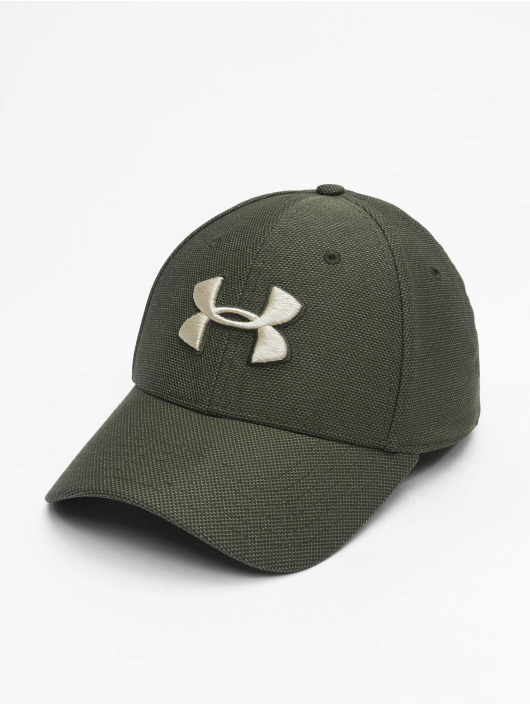 Under Armour Flexfitted Cap Heathered Blitzing 3.0 zelený