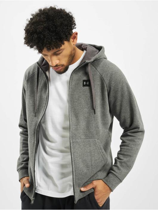 Under Armour Hoodies con zip Rival Fleece grigio
