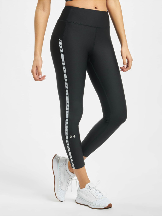 Under Armour Legging UA HG Armour Vertical Branded Ankle Crop schwarz