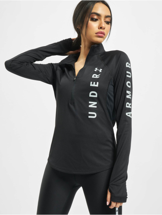 Under Armour Longsleeve UA Speed Stride Split Wordmark Half Zip schwarz