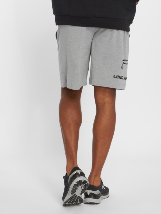 Under Armour Performance Shorts Sportstyle Cotton Graphic grey