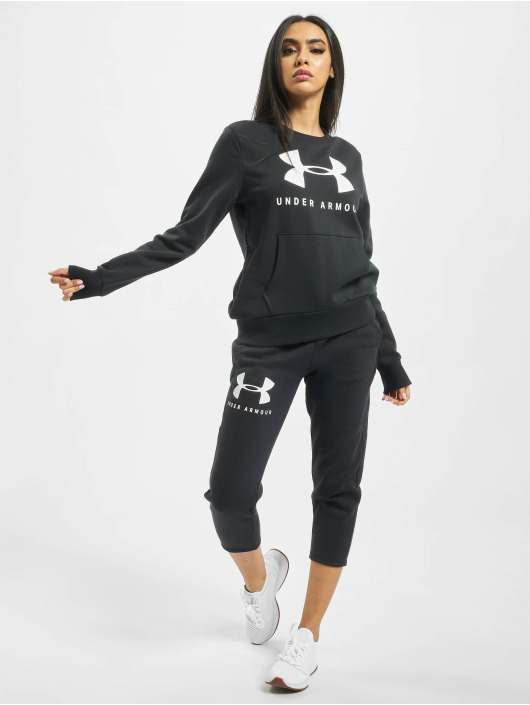Under Armour Pullover 12.1 Rival Fleece Sportstyle Graphic Crewneck black