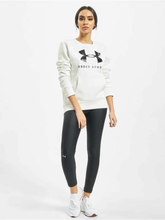 Under Armour Pulóvre 12.1 Rival Fleece Sportstyle Graphic biela