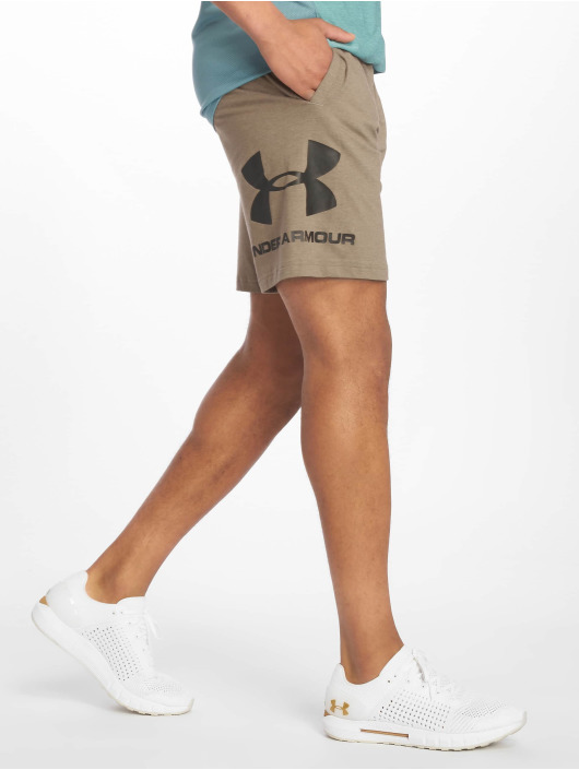 Under Armour Szorty Sportstyle Cotton Graphic brazowy