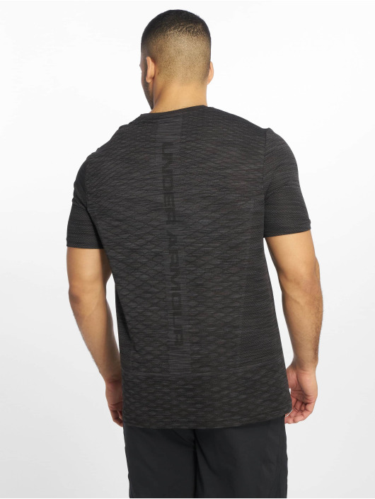 Under Armour t-shirt Vanish Seamless Novelty zwart