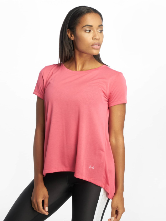 Under Armour T-Shirty UA Whisperlight Foldover pink