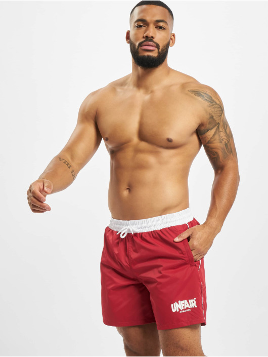 UNFAIR ATHLETICS Badeshorts Classic Label red