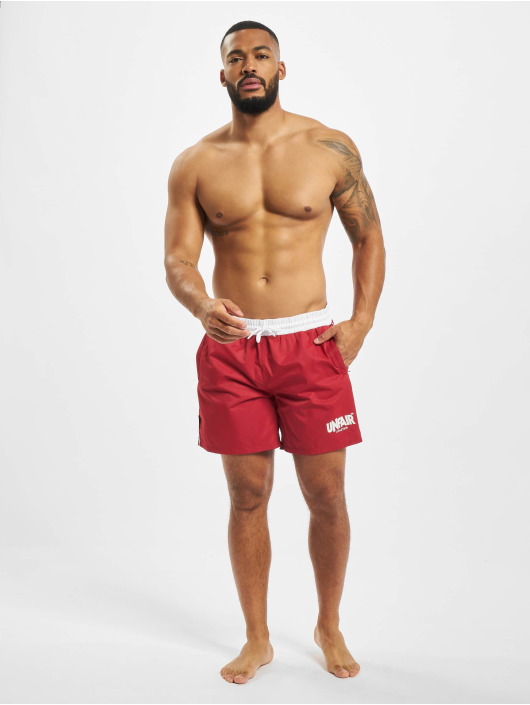 UNFAIR ATHLETICS Badeshorts Classic Label rot