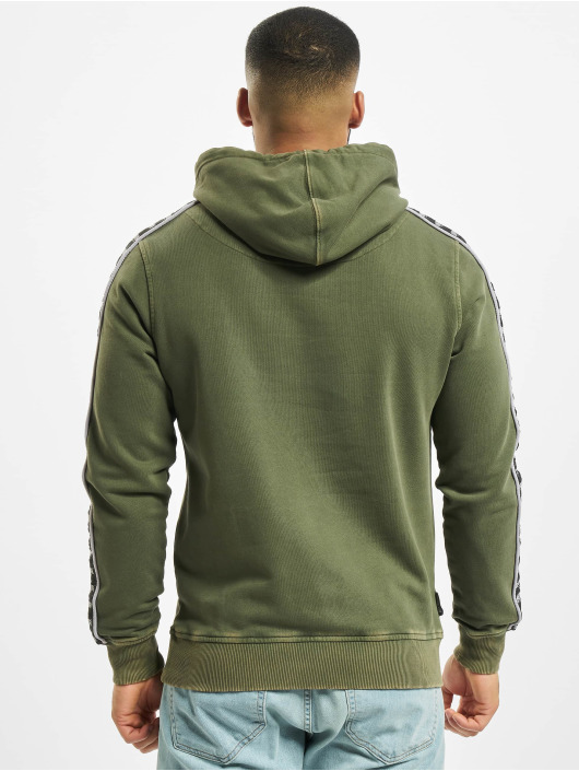 UNFAIR ATHLETICS Hoodie Classic Label Taped olive