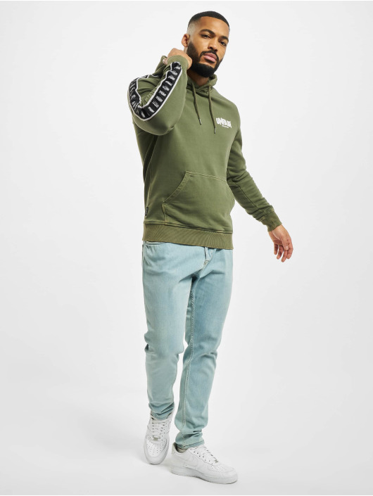UNFAIR ATHLETICS Hoody Classic Label Taped olive