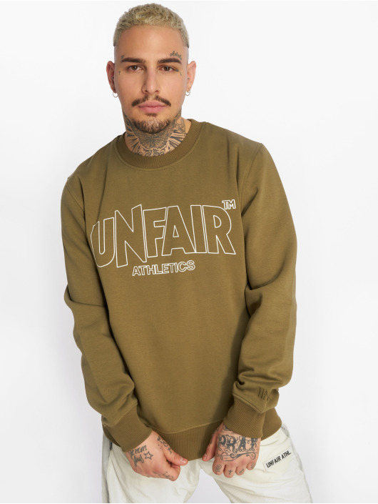 UNFAIR ATHLETICS Pullover Classic Label Outline olive