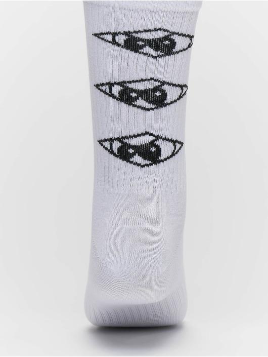 UNFAIR ATHLETICS Sokker Triple hvit