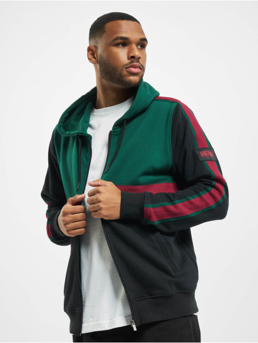 UNFAIR ATHLETICS Sweat capuche zippé Canvas Striped noir