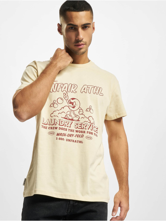 UNFAIR ATHLETICS T-Shirty Laundry Service bezowy