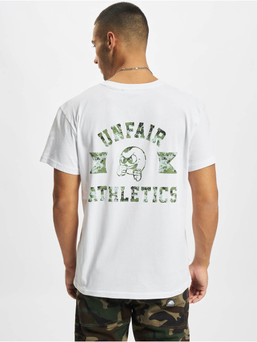 UNFAIR ATHLETICS T-Shirty Punchingball Pixel Camo bialy