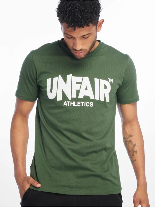 UNFAIR ATHLETICS T-Shirty Classic Label '19 zielony