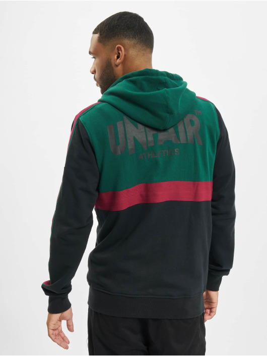 UNFAIR ATHLETICS Zip Hoodie Canvas Striped black
